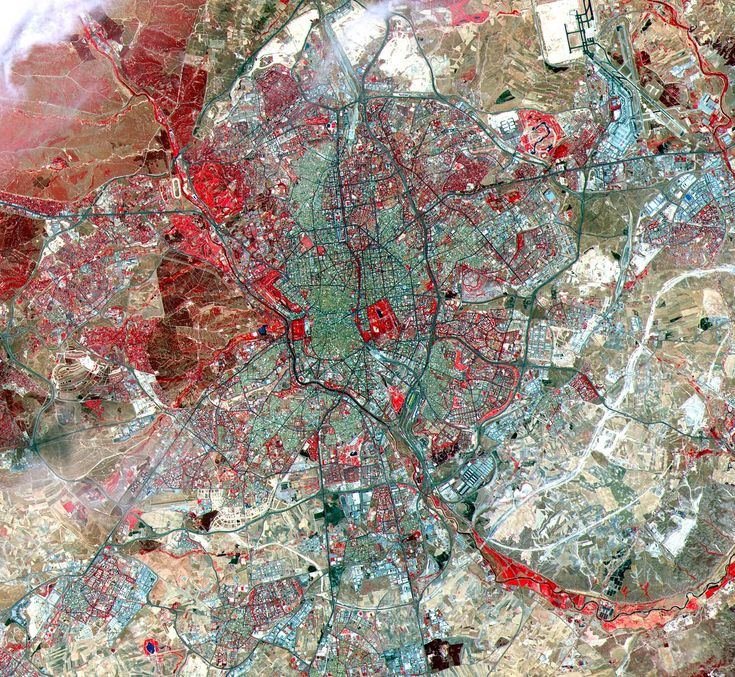 map of Madrid, Spain <3