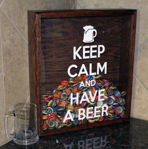 Boîte pour capsule de bière. fun !