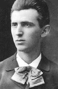 Nikola Tesla as a young man.