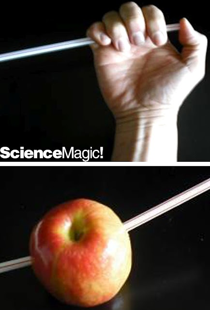 Steel straw experiment.  Stab a straw through an apple or potato by plugging the end of the straw with your thumb.  The trapped air inside causes the straw to be more rigid.