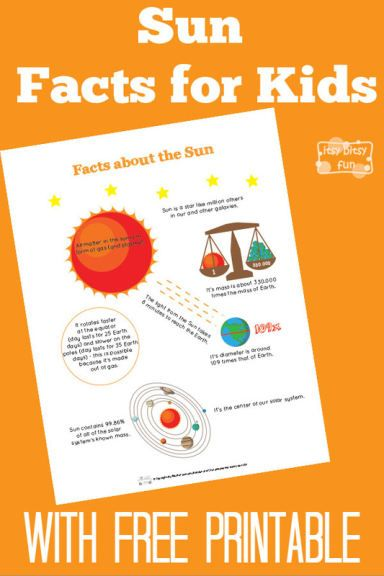 Fun Sun Facts for Kids With Free Printables Activities and make a game idea.