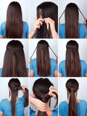"""Coole Frisur im """"Game of Thrones""""-Look: Für diese Frisur müsst ihr auf jeder Seite (auf Höhe der Schläfe) eine Haarsträhne abteilen, bis zum Hinterkopf flechten und mit einem feinen Haargummi zusammenbinden. Diesen Vorgang wiederholt ihr genau unter den ersten zusammengebundenen Flechtzöpfen. Nun bindet ihr alle vier Flechtzöpfen zusammen - anschließend müsst ihr einen Pferdeschwanz auf Höhe der Flechtzöpfe binden und dabei eine Haarpartie auslassen. Die ausgelassene Haarpartie wickelt ihr…"""