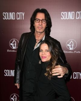 Rick Springfield and wife, Barbara looks like she has that new ombre hair coloring it looks really good on her.