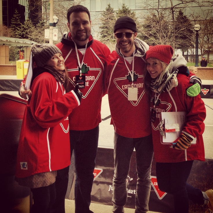 Canadian Tire's Ultimate Playoff party staff dressed up in #KobeK3G apparel!