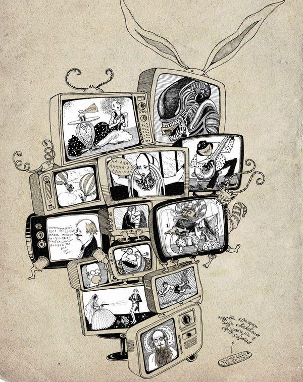 More book illustrations by Sveta Dorosheva, via Behance
