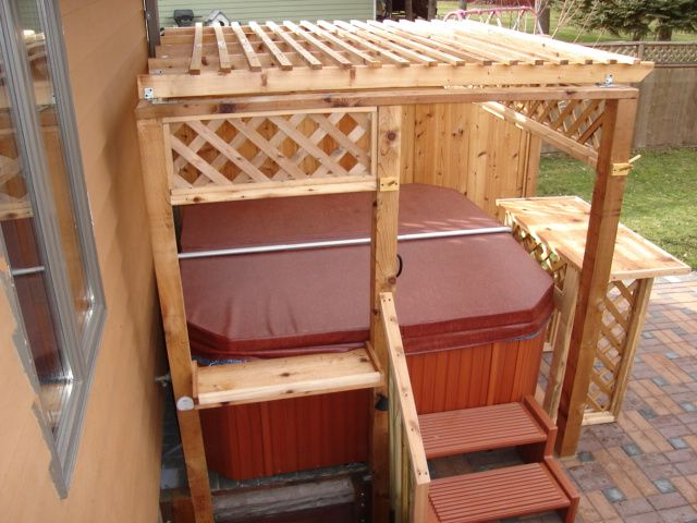 17 Best Images About Hot Tub Patio Ideas On Pinterest