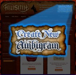 Site to create mind-blowing ambigrams words that can be read upright and upside-down!  YOU decide what your ambigram will say in both directions!