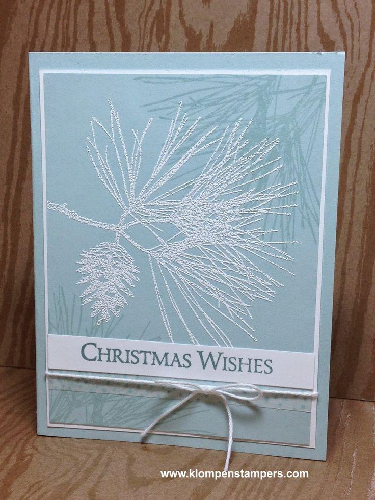 Quick u0026 Easy Christmas card using Stampinu0027