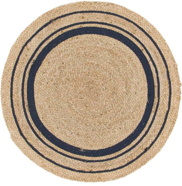 Bright Blue Borders Make This Jute Rug A Happy One From 51 84 Area Rugs Natural Fiber Area Rug Colorful Rugs