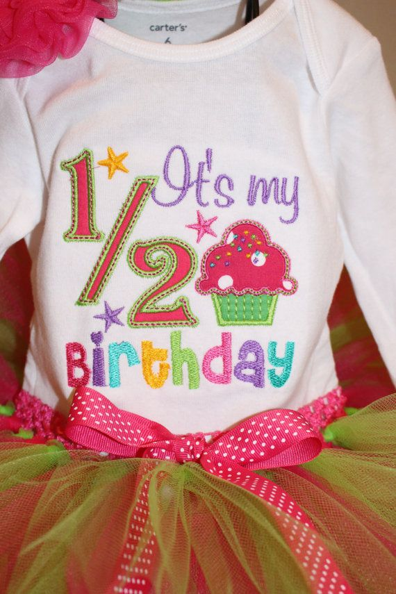 Baby Toddler Girls Half Birthday Outfit 6 Month Or 18