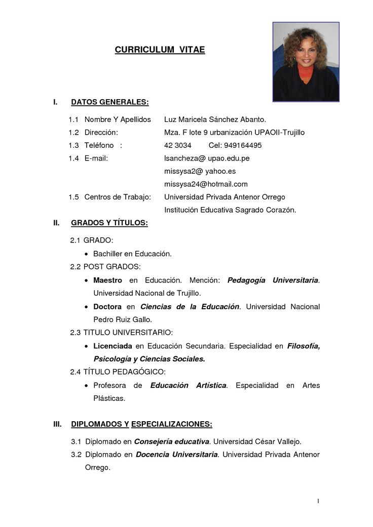 Modelo De Curriculum Vitae Simple Narco Penantly Co