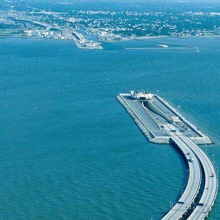 The underwater bridge that connects Demark and Sweden ...