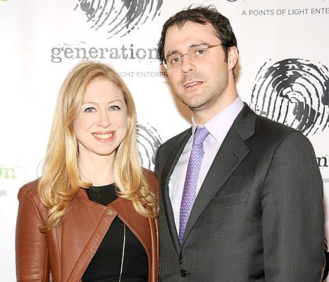 Chelsea Clinton and Mark Mezvinsky at the 2013 GenerationOn Benefit