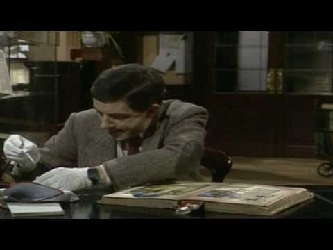 library orientation...what not to do to your library book.  Mr Bean - Library book ruined