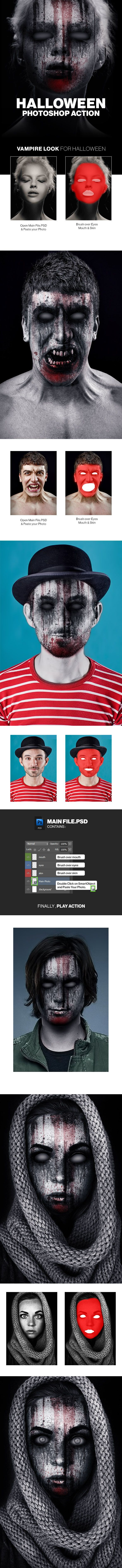 Halloween Photoshop Action  — PSD Template #party #zombie • Download ➝ https://graphicriver.net/item/halloween-photoshop-action/18145626?ref=pxcr