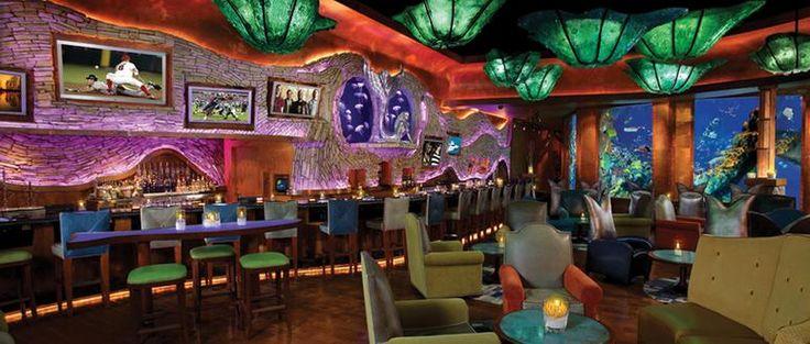 Mermaid Restaurant & Lounge has performing mermaids swimming while you dine