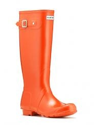 Tangerine Wellies, to brighten the drabbest drizzle and withstand any deluge.