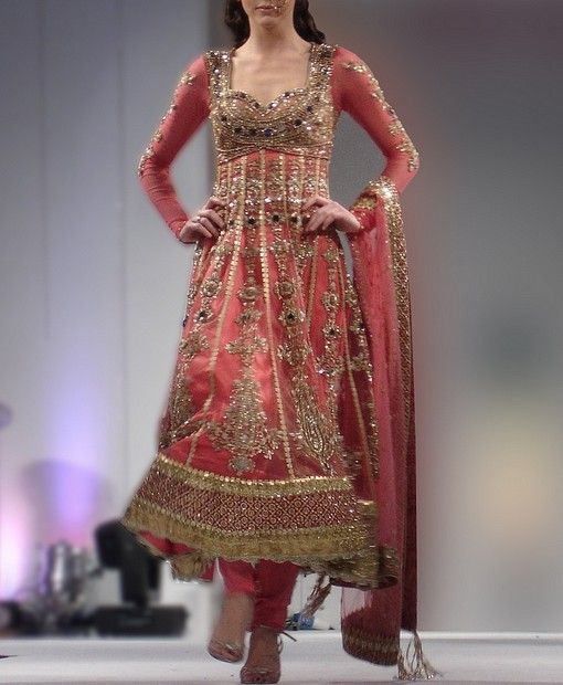 Heavily Embroidered Bridal Anarkali Suit