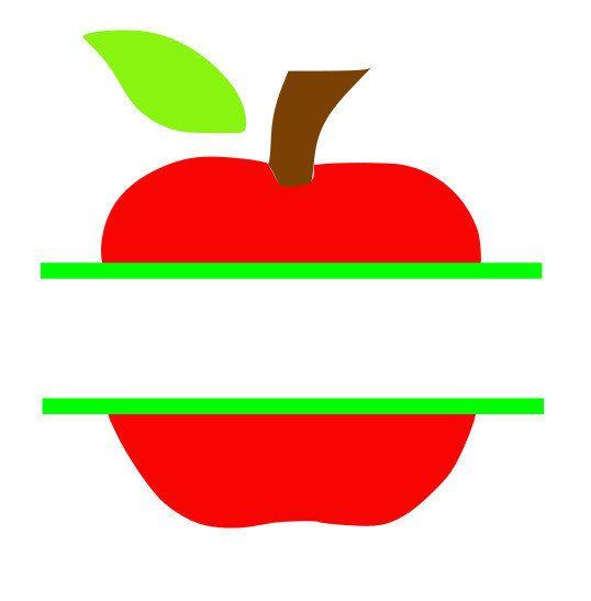 Apple-Monogramm-sofort-Download cut Datei  SVG von Vinyldecalsworld
