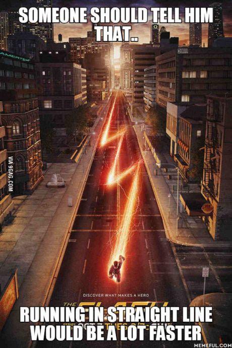 He runs so fast it doesn't matter :)
