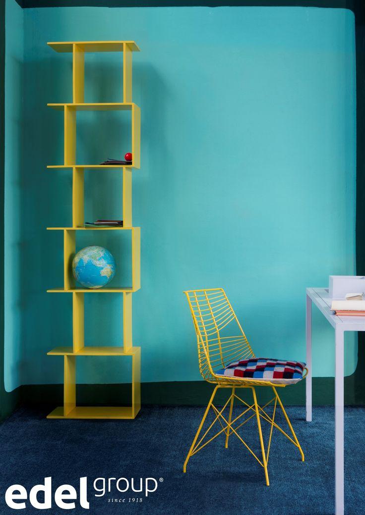 Zorg voor extra inspiratie door met kleur te spelen.   Get inspired! Use colour in your office.
