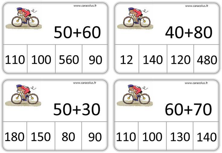 J'ai réalisé d'autres cartes auto-correctives à partir de la méthode de Rémi Brissiaud, qui me sert de base pour ma première année sans fichier. Elles reprennent donc les représentation…