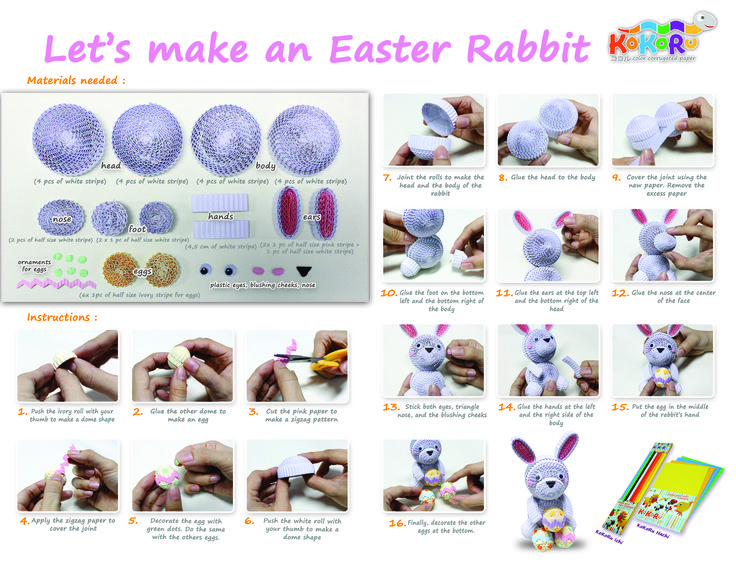 how to make the rabbit #kokoru #easter
