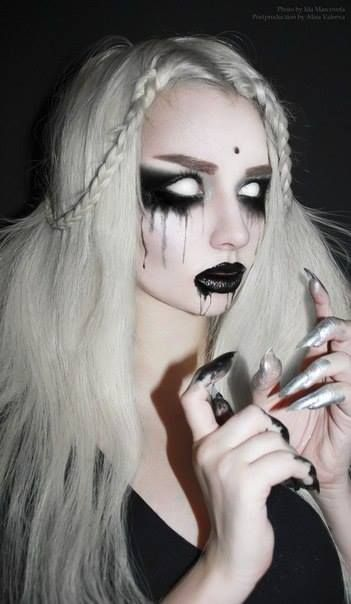 Ghost Make Up - Get the white out contacts. Easier to get the ones where you still see your pupil but still very creepy.
