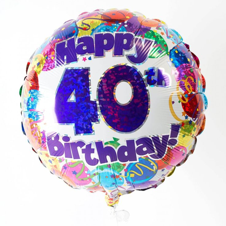 Happy 40th Birthday Balloon Design Happy 40th Birthday