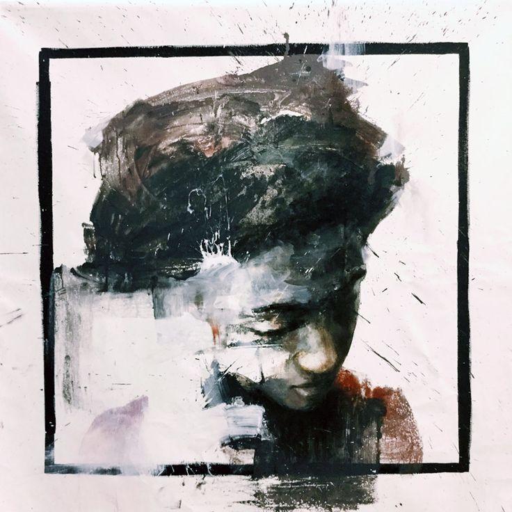 Pensieri posati | oil and acrylic on canvas |  80 x 80 cm | 2015 |Luigi Christopher Veggetti Kanku