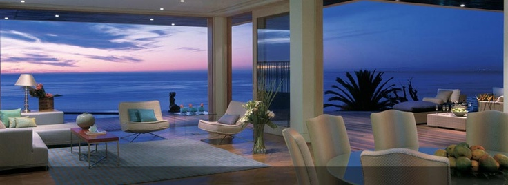 Views from the Lounge of Ellerman Villa are simply spectacular