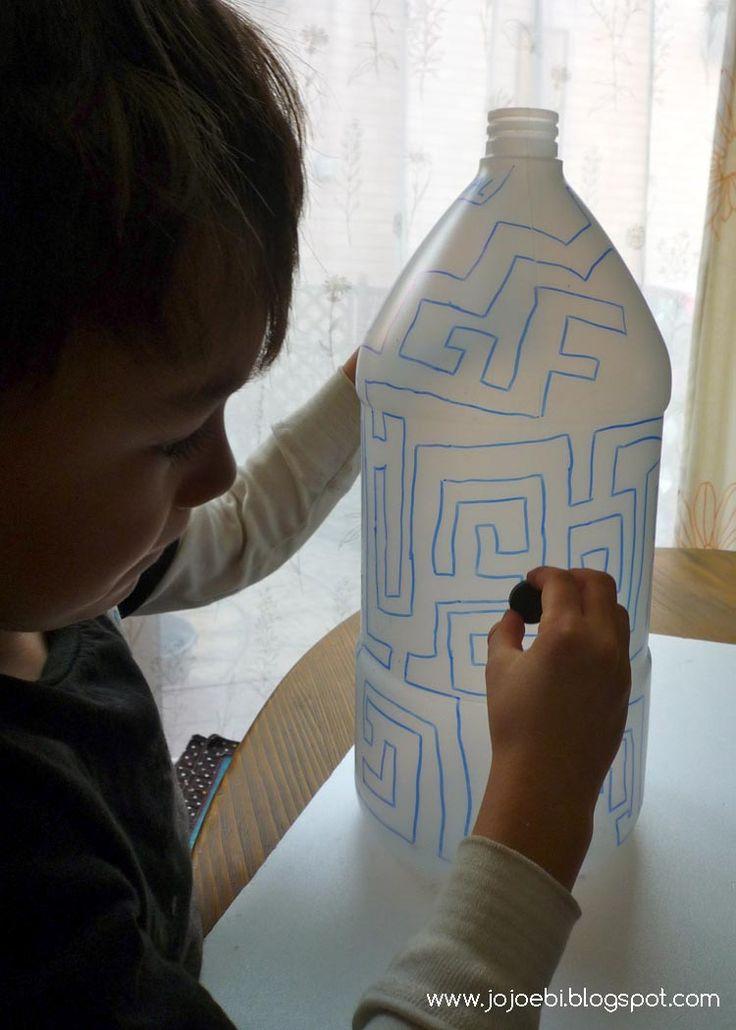98 besten plastikflaschen bilder auf pinterest - Tannenbaumschmuck basteln mit kindern ...