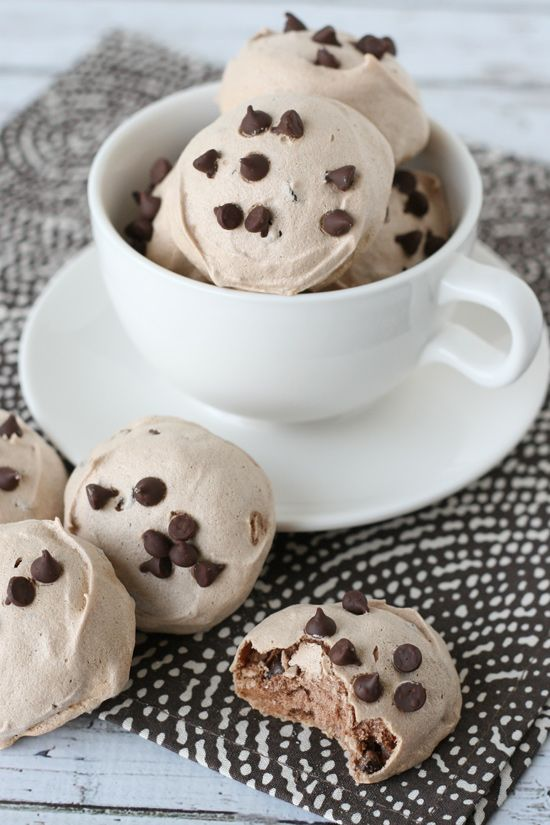 Light, crisp, sweet and delicious Mocha Meringue Cookies!