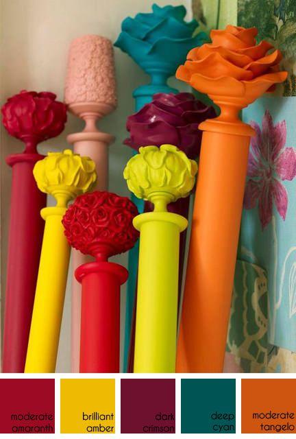 colourful Byron and Byron curtain poles
