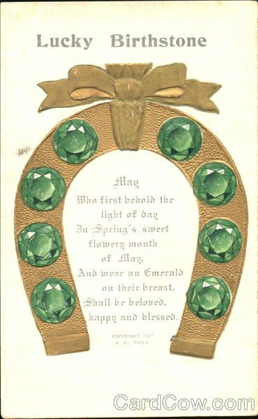 Images About Vintage Birthstone Postcards
