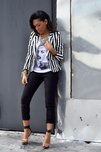 Best 20  Striped blazer ideas on Pinterest | Striped blazer outfit ...
