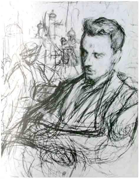 """Jeden ze szkiców Pasternaka do obrazu """"Rilke w Moskwie"""", 1900"""