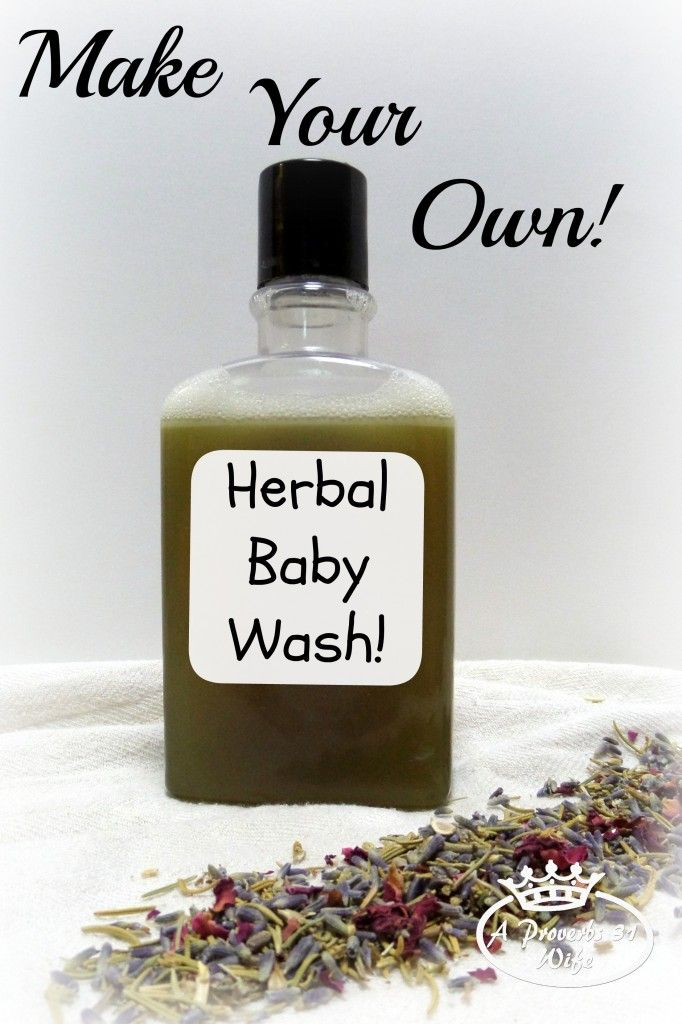 All natural baby shampoo recipe. Herbal infused water and castile soap make a wonderful natural shampoo or body wash. Recipe found here...