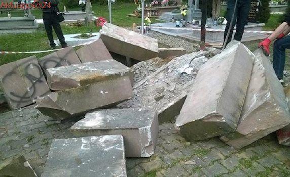 Ukraiński IPN wydał ostry komunikat pod adresem Polski w sprawie niszczenia miejsc pamięci