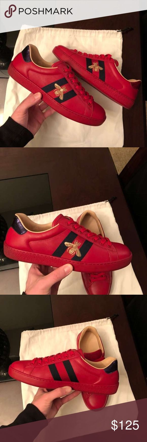 Gucci Ace Bee Sneakers i Have sizes 6-13 Available!  Please Text me at (219) 213-6251 to see if i still have your size in stock or for more pictures Before purchase ! 100% authentic  comes with Box , Dustbags , Receipts And Carebooks price is Negotiable! Serious Inquires only! Gucci Shoes Sneakers