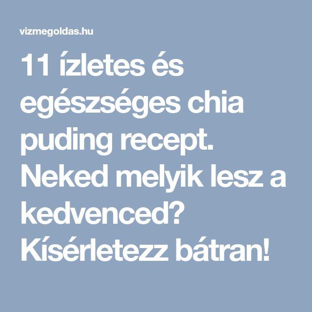 11 ízletes és egészséges chia puding recept. Neked melyik lesz a kedvenced? Kísérletezz bátran!