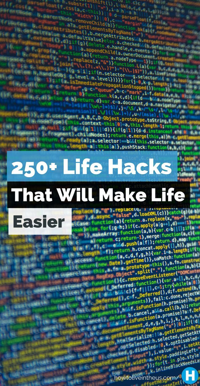 Wouldn't it be awesome if life was just easier. Well now it can be. Check out these 250+ life hacks that will make your life so much easier. www.howtoliveinth...