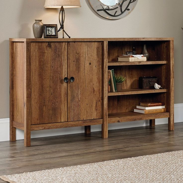 25 great ideas about rustic console tables on pinterest rustic modern living room tv stand - Sofa table with cabinets ...