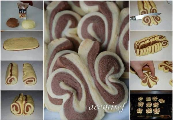 How to Make Beautiful Butterfly Roll up Cookie