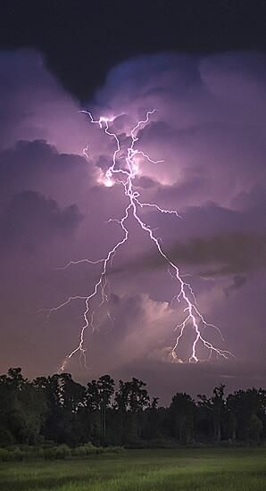 Pictures of a lightning storm that came through the Wilmington, NC area