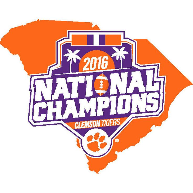 Clemson Tigers College Football Playoff 2016 National Champions State Decal