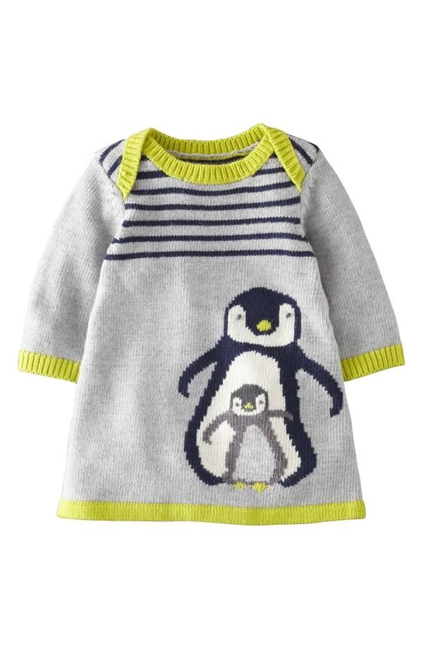 Mama + baby penguin sweater