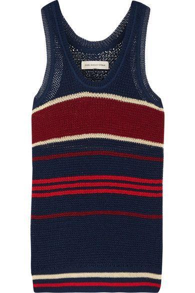 Étoile Isabel Marant - Dully Striped Open-knit Tank - Storm blue - FR34