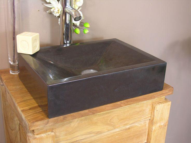 marbre noir style contemporain vasque salle de bain poser poitrine 39 invite alexandrie lay down - Salle De Bain Marbre Rose
