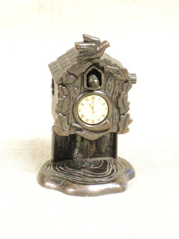 Pencil Sharpener / Cuckoo Clock / Metal / Miniature by wilshepherd